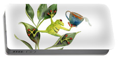 He Frog Portable Battery Charger by Amy Kirkpatrick