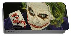 Heath Ledger The Joker Portable Battery Charger by David Peninger