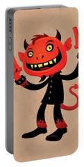 Heavy Metal Devil Portable Battery Charger by John Schwegel