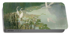 Herons In Summer Portable Battery Charger by Newell Convers Wyeth