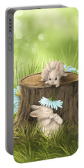 Hi There Portable Battery Charger by Veronica Minozzi