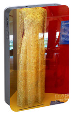 Hillary Clinton State Dinner Gown Portable Battery Charger by Randall Weidner