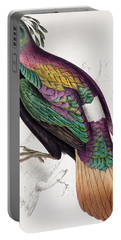 Himalayan Monal Pheasant Portable Battery Charger by John Gould