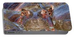 Hippopotamus Portable Battery Charger by Richard Garvey-Williams