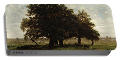 Holm Oaks Portable Battery Charger by Pierre Etienne Theodore Rousseau