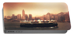 Hong Kong Harbour 01 Portable Battery Charger by Pixel  Chimp