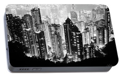 Hong Kong Nightscape Portable Battery Charger by Joseph Westrupp