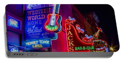 Honky Tonk Broadway Portable Battery Charger by Stephen Stookey