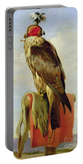 Hooded Falcon Portable Battery Charger by Sir Edwin Landseer