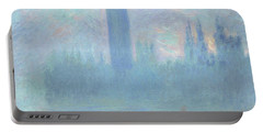 Houses Of Parliament  London Portable Battery Charger by Claude Monet