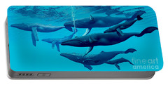 Humpback Whale Group Portable Battery Charger by Corey Ford