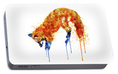 Hunting Fox  Portable Battery Charger by Marian Voicu