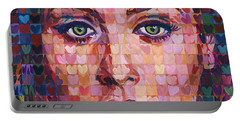 I Heart Adele - 25 Album Portable Battery Charger by Randal Huiskens