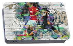 Ibrahimovic Street Art Portable Battery Charger by Don Kuing