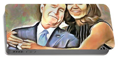 Imagine All The People Portable Battery Charger by Wayne Pascall