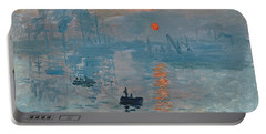 Impression Sunrise Portable Battery Charger by Claude Monet