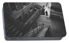 In Pursuit Of The Devil On The Stairs Portable Battery Charger by Joseph Westrupp