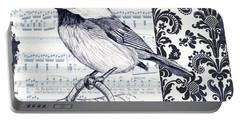 Indigo Vintage Songbird 2 Portable Battery Charger by Debbie DeWitt