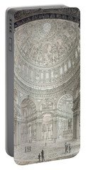 Interior Of Saint Pauls Cathedral Portable Battery Charger by John Coney
