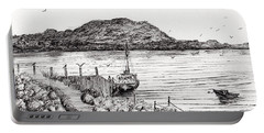 Iona From Mull Portable Battery Charger by Vincent Alexander Booth