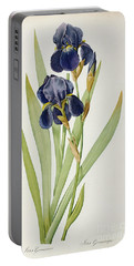 Iris Germanica Portable Battery Charger by Pierre Joseph Redoute