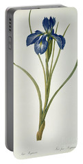Iris Xyphioides Portable Battery Charger by Pierre Joseph Redoute
