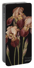 Irises Portable Battery Charger by Jenny Barron