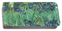 Irises Portable Battery Charger by Vincent Van Gogh