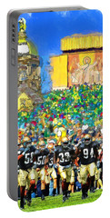 Irish Run To Victory Portable Battery Charger by John Farr
