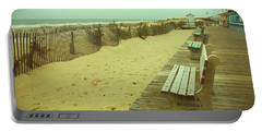 Is This A Beach Day - Jersey Shore Portable Battery Charger by Angie Tirado