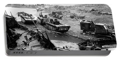 Iwo Jima Beach Portable Battery Charger by War Is Hell Store
