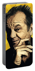 Jack Nicholson 3 Portable Battery Charger by Semih Yurdabak