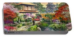 Japan Garden Variant 2 Portable Battery Charger by Dominic Davison