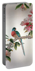 Jay On A Flowering Branch Portable Battery Charger by Chinese School