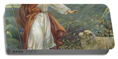 Jesus Christ The Tender Shepherd Portable Battery Charger by Ambrose Dudley