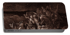 Jesus Stilling The Tempest Portable Battery Charger by Gustave Dore