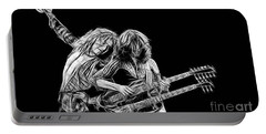 Jimmy Page And Robert Plant Collection Portable Battery Charger by Marvin Blaine