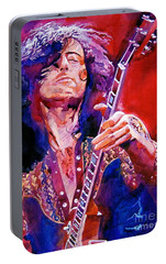 Jimmy Page Portable Battery Charger by David Lloyd Glover