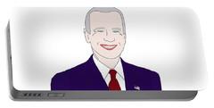 Joe Biden Portable Battery Charger by Priscilla Wolfe
