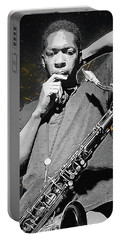 John Coltrane Portable Battery Charger by Semih Yurdabak