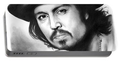 Johnny Depp Portable Battery Charger by Greg Joens