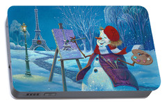 Joyeux Noel Portable Battery Charger by Michael Humphries