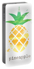 Juicy Pineapple Portable Battery Charger by Linda Woods