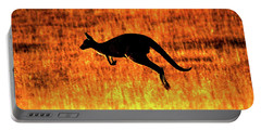 Kangaroo Sunset Portable Battery Charger by Bruce J Robinson