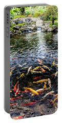 Kauai Koi Pond Portable Battery Charger by Darcy Michaelchuk