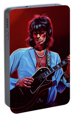 Keith Richards The Riffmaster Portable Battery Charger by Paul Meijering