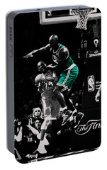 Kevin Garnett Not In Here Portable Battery Charger by Brian Reaves