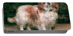 King Charles Spaniel Portable Battery Charger by George Sheridan Knowles