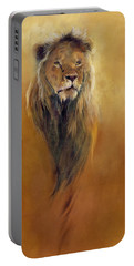 King Leo Portable Battery Charger by Odile Kidd