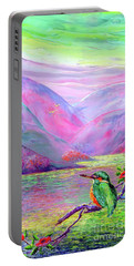 Kingfisher, Shimmering Streams Portable Battery Charger by Jane Small